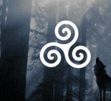 teen wolf symbol Sticker