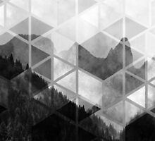 Forest Geometric Print by Jacqui Frank