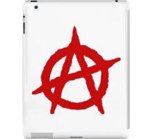 White & Red Anarchist iPad Case/Skin