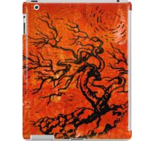 Old and Ancient Tree - Orange Red  iPad Case/Skin