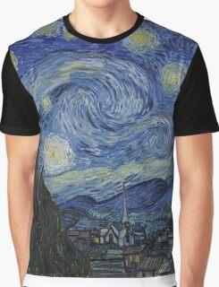Vincent van Gogh - Starry Night Graphic T-Shirt