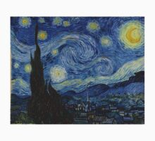 Vincent van Gogh - Starry Night One Piece - Short Sleeve