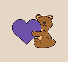 Valentine's Day Brown Bear with Purple Heart Unisex T-Shirt