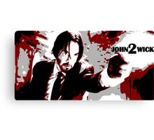 John Wick 2 Bloodied Red Design Canvas Print