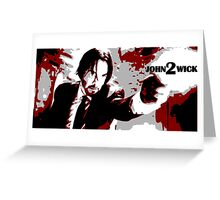 John Wick 2 Bloodied Red Design Greeting Card