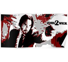 John Wick 2 Bloodied Red Design Poster