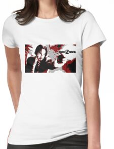 John Wick 2 Bloodied Red Design Womens Fitted T-Shirt