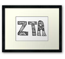 Zeta Tau Alpha Zentangle Framed Print