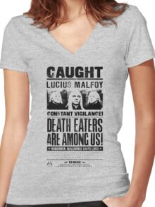 Caught Lucius Malfoy Women's Fitted V-Neck T-Shirt