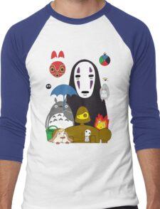 Totoro No Mask Men's Baseball ¾ T-Shirt