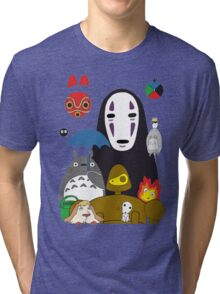Totoro No Mask Tri-blend T-Shirt