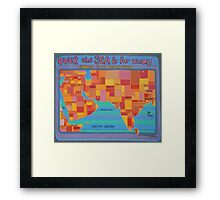 over the sea and far away Framed Print