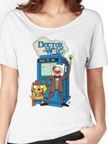 Finn and Jake Adventure Time Doctor Who Women's Relaxed Fit T-Shirt