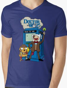 Finn and Jake Adventure Time Doctor Who Mens V-Neck T-Shirt