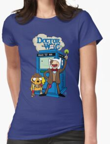 Finn and Jake Adventure Time Doctor Who Womens Fitted T-Shirt