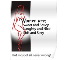 Women Are Never Wrong Poster