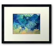 Tree Series - Trees in the Orchard 2 LH Section only Framed Print