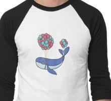 Sky Whale Men's Baseball ¾ T-Shirt