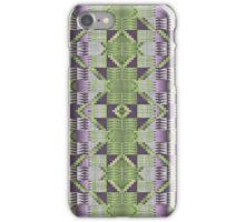 Violet Purple Pink Lime Green Mosaic Pattern iPhone Case/Skin
