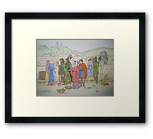 When the Woodsmen Did a Wooing Go Framed Print