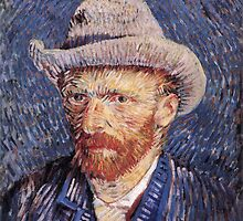 Vincent van Gogh - Self-Portrait with Felt Hat by mosfunky