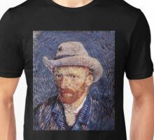 Vincent van Gogh - Self-Portrait with Felt Hat Unisex T-Shirt