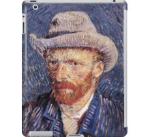 Vincent van Gogh - Self-Portrait with Felt Hat iPad Case/Skin