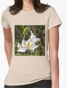 Beautiful Butterfly tree flower Womens Fitted T-Shirt