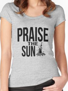 Praise the sun - version 2 - black Women's Fitted Scoop T-Shirt