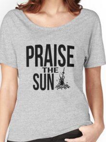 Praise the sun - version 2 - black Women's Relaxed Fit T-Shirt