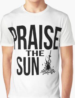 Praise the sun - version 2 - black Graphic T-Shirt