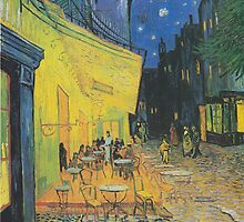 Vincent van Gogh - Café Terrace at Night by mosfunky