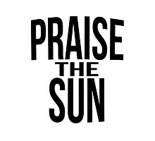 Praise the sun - version 3 - black Photographic Print