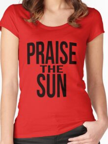 Praise the sun - version 3 - black Women's Fitted Scoop T-Shirt