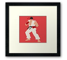 Smash Bros - Ryu Framed Print
