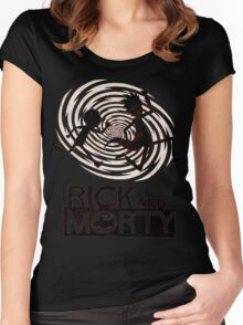Morty Run Women's Fitted Scoop T-Shirt