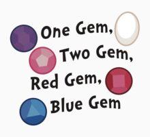 One Gem, Two Gem, Red Gem, Blue Gem by haberdasher92