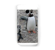 Gentoo penguin selfie in Antarctica  Samsung Galaxy Case/Skin