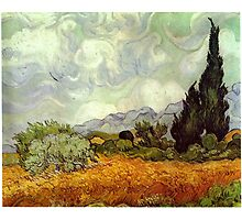 Vincent van Gogh - Wheat Field with Cypresses Photographic Print