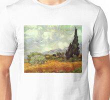 Vincent van Gogh - Wheat Field with Cypresses Unisex T-Shirt