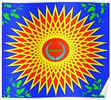 Starburst Coat Of Arms Poster