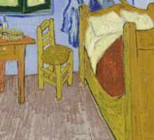 Vincent van Gogh - Bedroom in Arles Sticker