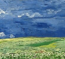 Vincent van Gogh - Wheatfield Under Thunderclouds by mosfunky