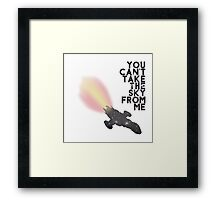You Can't Take the Sky From Me - Serenity and the Stars (Transparent Version) Framed Print