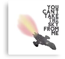 You Can't Take the Sky From Me - Serenity and the Stars (Transparent Version) Metal Print