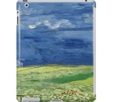 Vincent van Gogh - Wheatfield Under Thunderclouds iPad Case/Skin