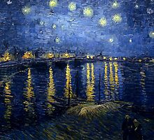 Vincent van Gogh - Starry Night Over the Rhone by mosfunky
