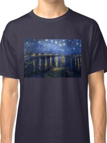 Vincent van Gogh - Starry Night Over the Rhone Classic T-Shirt