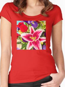 Floral Bouquet Women's Fitted Scoop T-Shirt