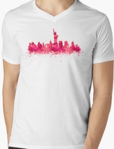 New York City Skyline Mens V-Neck T-Shirt